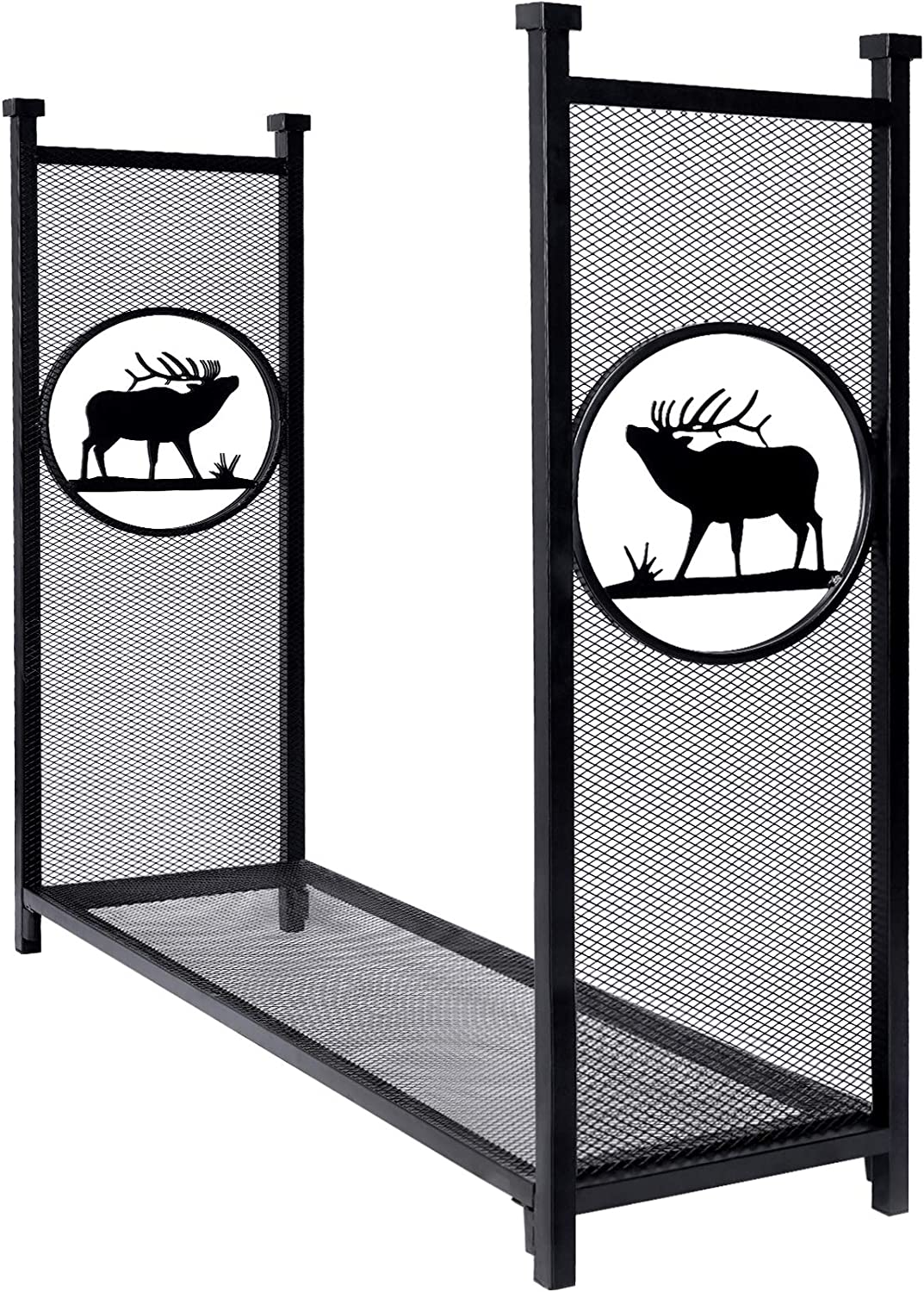Inno Stage Firewood Log Rack For Outdoor Heavy Duty Log Storage Holder Fire Wood Pile Racks For Fireplace Patio With Special Elk Pattern 4 Home Improvement Amazon Com