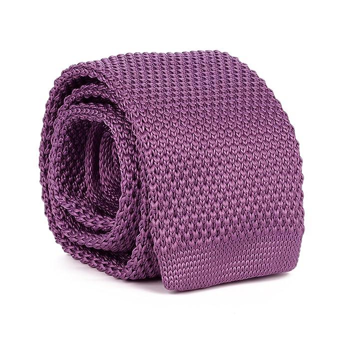 cravateSlim Corbata de Punto Malva: Amazon.es: Ropa y accesorios