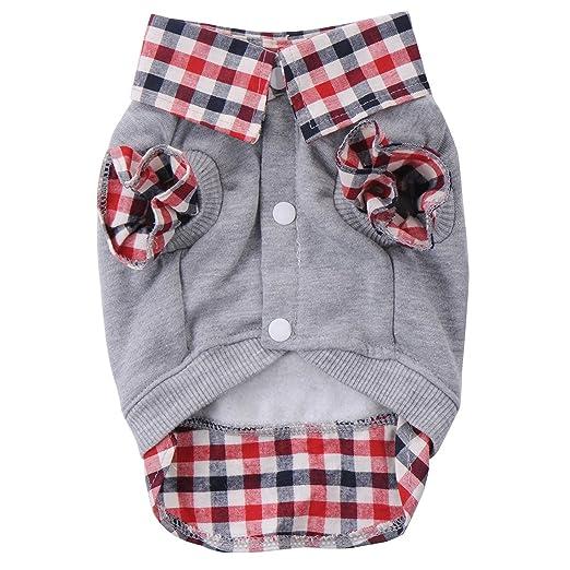 5 opinioni per Shinmax Cane Gatto Griglia Maglione Puppy cappotto caldo T-shirt Abbigliamento