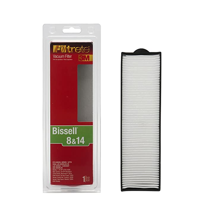 3M Filtrete Bissell 8 & 14 Allergen Vacuum Filter Pack of 1