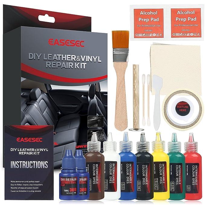 Amazon.com: Kit de reparación de cuero, EASESEC 25 piezas ...