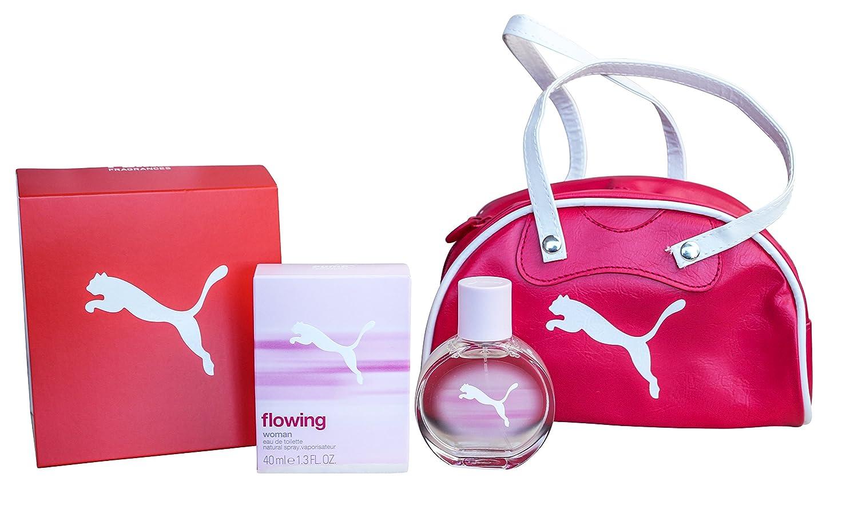 Puma Flowing Woman EDT 40ml + Handtasche: : Beauty