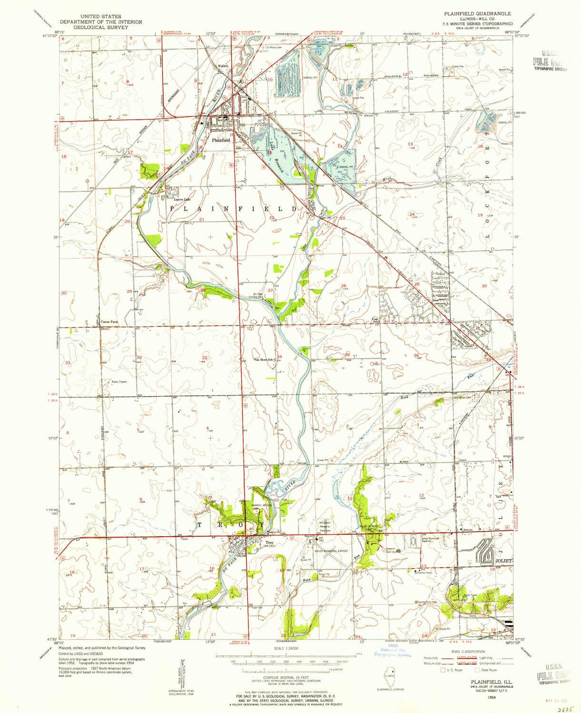 Amazon Com Yellowmaps Plainfield Il Topo Map 1 24000 Scale 7 5 X