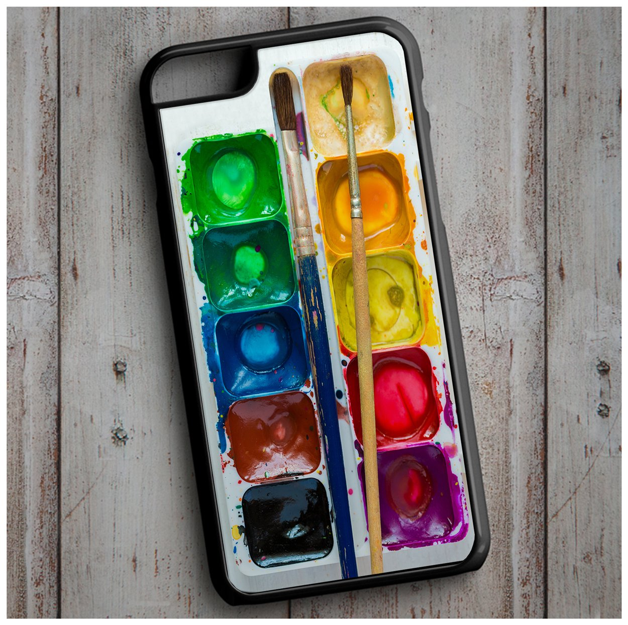 Novelty Watercolour Paint Palette Set Print Cool New Case Cover for any iPhone