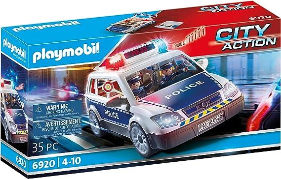 Playmobil - Voiture de Policiers avec Gyrophare et Sirène -