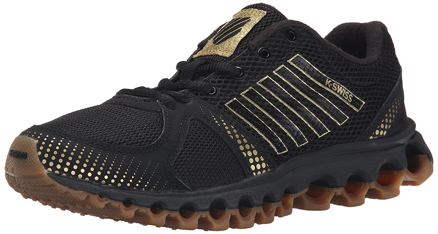 K-Swiss Women's X-160 CMF Training Shoe B00WXR6L4M 5 B(M) US|Black/Gold/Dark Gum