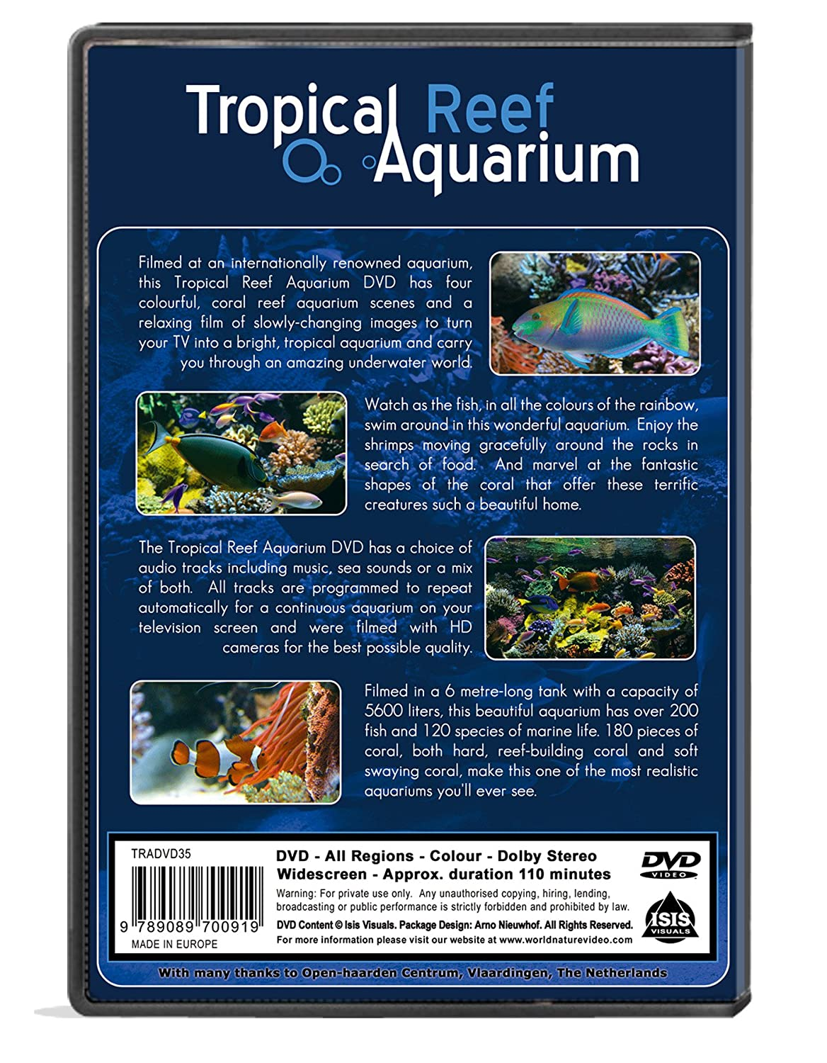 Fish tank for your tv - Amazon Com Aquarium Dvd Tropical Reef Aquarium Filmed In Hd With Natural Sound And Relaxing Music The Ambient Collection Tropical Fishes And Marine