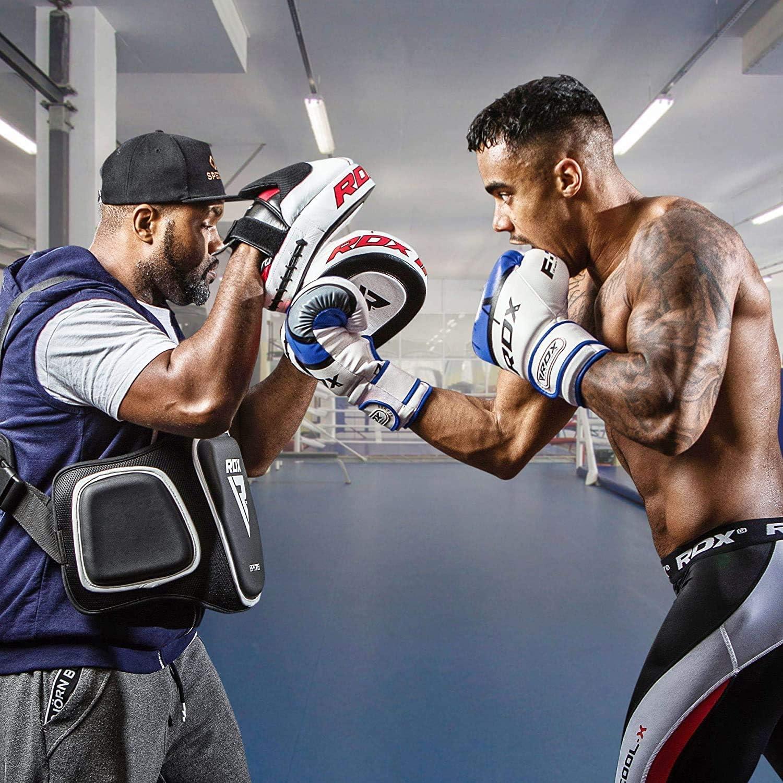 Boxing Gloves RDX Guantes de boxeo para entrenamiento y Muay Thai Maya Hide Cuero Ego para Kickboxing Sparring Grande para golpeadores punzados sacos de boxeo