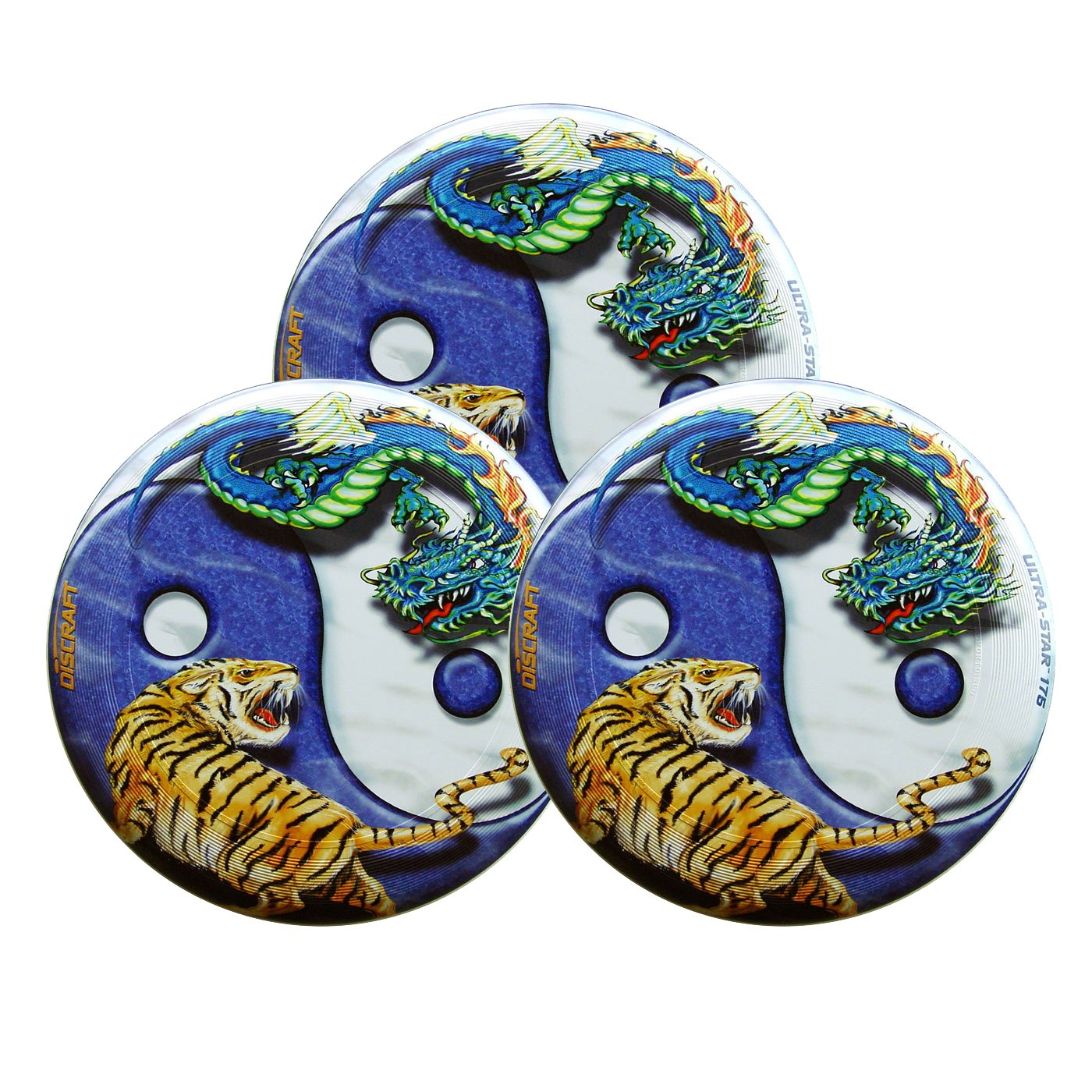 Discraft SuperColor Ultra-Star Yin Yang 175g Ultimate Sportdisc (3 Pack) by Discraft