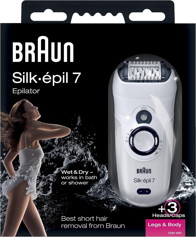Braun Silk-épil 7 7281 - Depiladora recargable Wet & Dry, legs ...