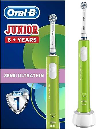 Oral-B Junior - Cepillo Eléctrico Recargable para Niños a Partir de 6 Años, Verde: Amazon.es: Salud y cuidado personal