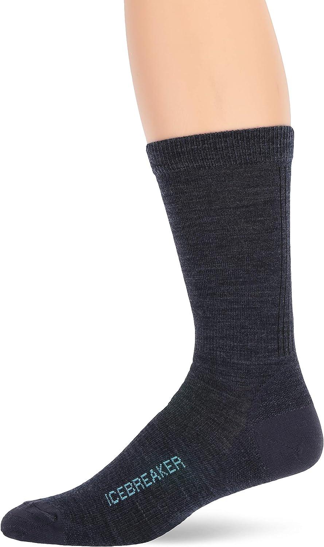 Icebreaker Merino Men's Lifestyle Ultralight Crew Socks, Medium, Fathom HTHR