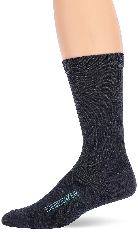 Icebreaker Merino Men's Lifestyle Ultralight Crew Socks, Large, Fathom HTHR