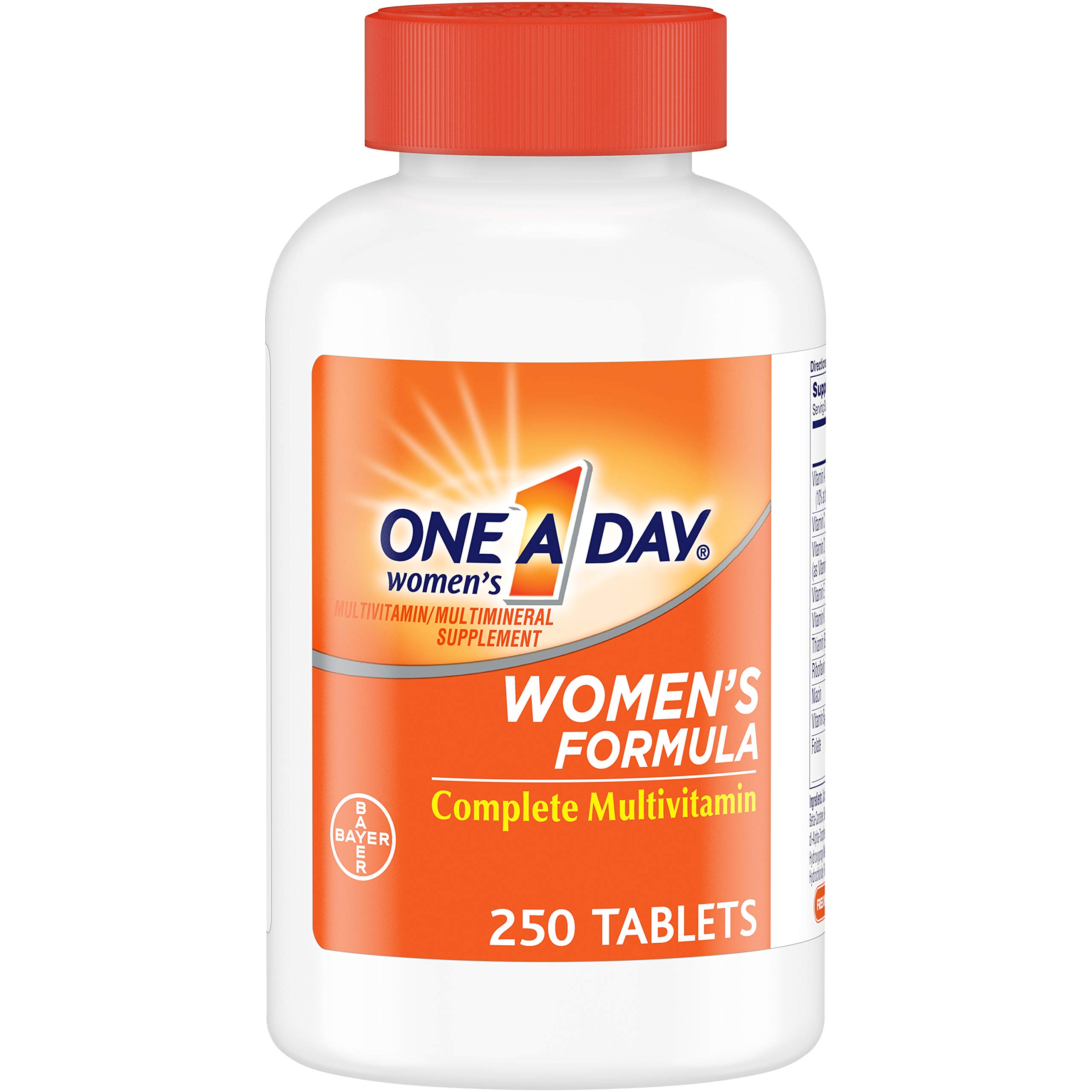 One A Day Women's Multivitamin, Supplement with Vitamins A, C, E, B1, B2, B6, B12, Biotin, Calcium and Vitamin D, 250 Count by ONE A DAY