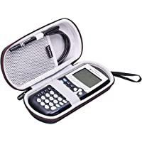 LTGEM Étui Rigide Voyage Sac de Transport de Stockage for Texas Instruments TI-84, 83/Plus/CE Graphics Calculator,Comprend Mesh Pocket- Noir