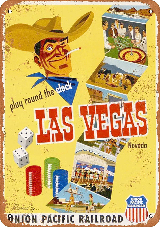 LORENZO Union Pacific to Las Vegas Vintage Metal Cartel de ...