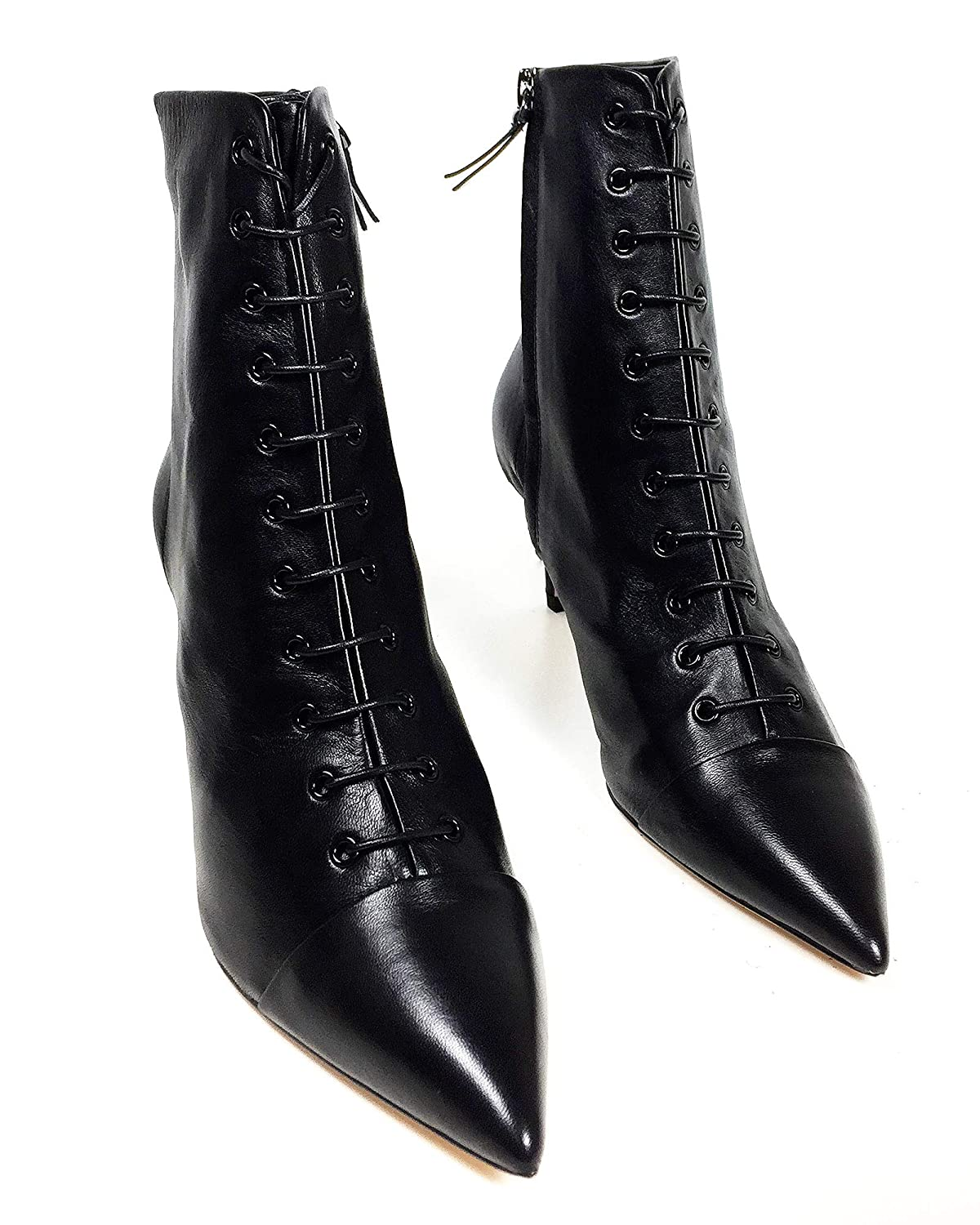 d48ca68d9cd Amazon.com  Zara Women Lace-up leather high heel ankle boots 5144 301   Clothing
