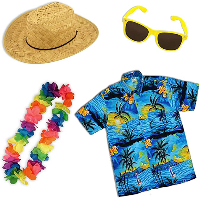 Paraguas de papel para adultos hawaiano camisa verano fiesta traje accesorios: Amazon.es: Ropa y accesorios