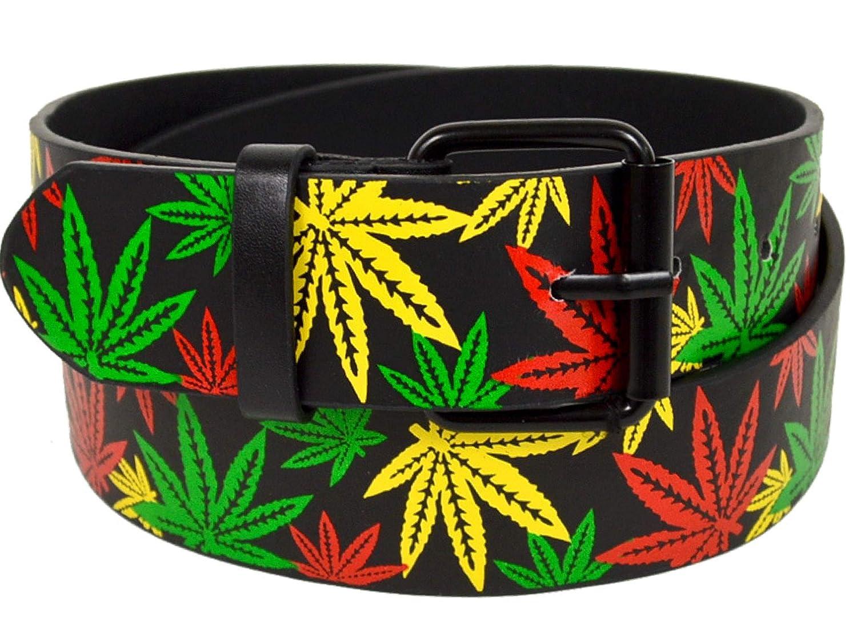 pot belt marijuana mens belt ganja weed leaf rasta belts