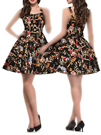 cf131f266cd84 better-caress Rockabilly Ladies Clothing 50s Vintage Dresses Audrey Hepburn  Vestido Sexy Cotton at Amazon Women s Clothing store