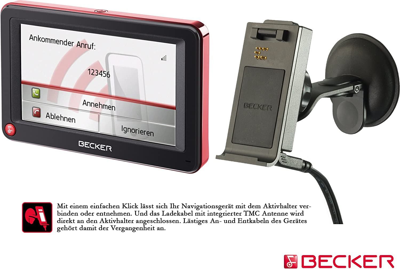Becker Active 43 Talk Inkl Tmc Schwarz Rot Elektronik