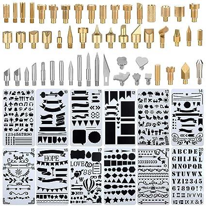 Kit de soldador, puntas de pluma para quemar madera, incluye kit de cabezal de