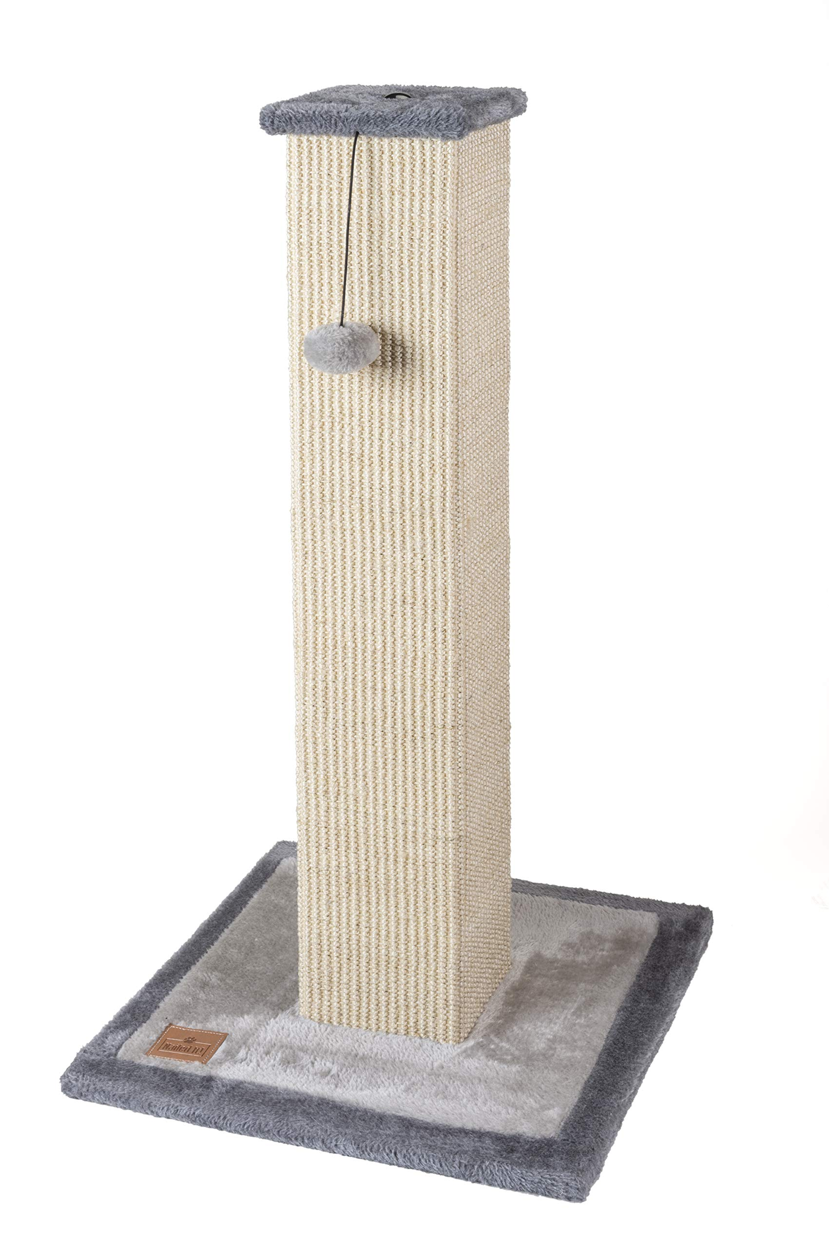 Nailed It! Premium Natural Woven Sisal Cat Scratching Post and Perch Cat Scratcher Cat Tower (Grey) by Nailed It!