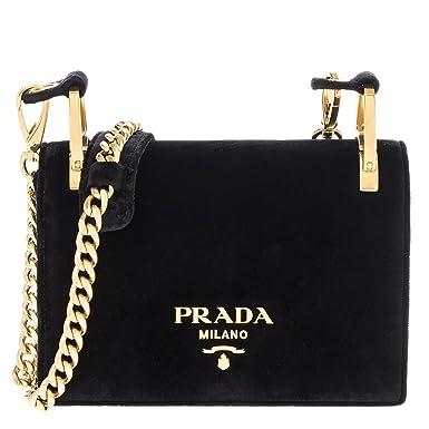 d175e45bf228 ... france prada womens pattina velvet chain shoulder bag black 007fd 20934