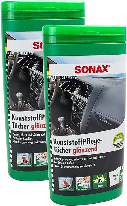 2x Sonax KunststoffpflegetÜcher GlÄnzend Box Kunststoff PflegetÜcher Je 25 StÜck Auto