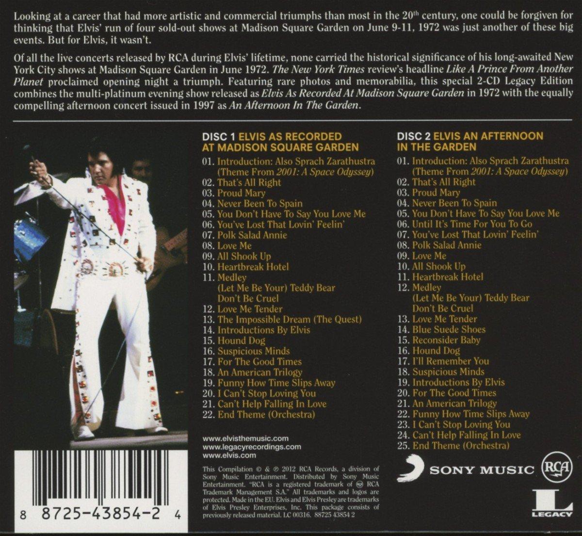 Elvis Presley - Elvis: As Recorded At Madison Square Garden - Amazon ...
