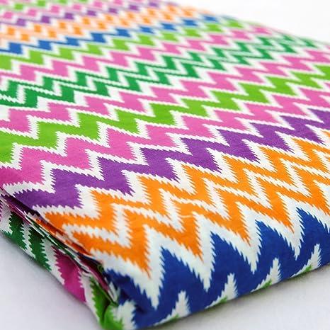 Zig Zag impreso Craft Jaipur India algodón bloque impreso vestido ...