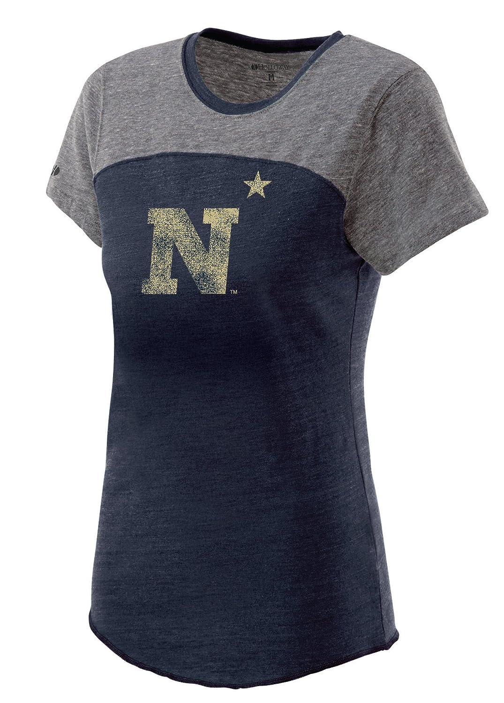 Vintage Navy//Vintage Grey XX-Large NCAA Navy Midshipmen Womens Enthuse Shirt