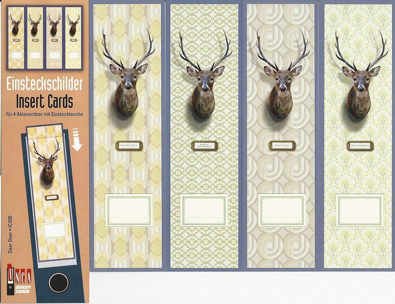 Motiv Dear Deer Design Ordner-R/ückenschilder zum Einstecken f/ür breite Din A4-Ordner original von File Art