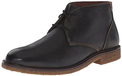 Johnston & Murphy Men's Copeland Chukka Boot, Black Tumbled Full Grain, ...