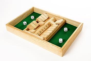 Engelhart - Juega de Mesa Shut The Box de Madera 2 Jugadores - 300410: Amazon.es: Juguetes y juegos