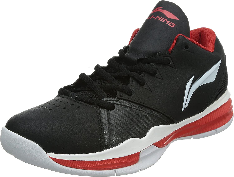 Li Ning - Zapatillas de baloncesto de Material Sintético para hombre Negro negro, color Negro, talla 44 1/3 EU: Amazon.es: Zapatos y complementos