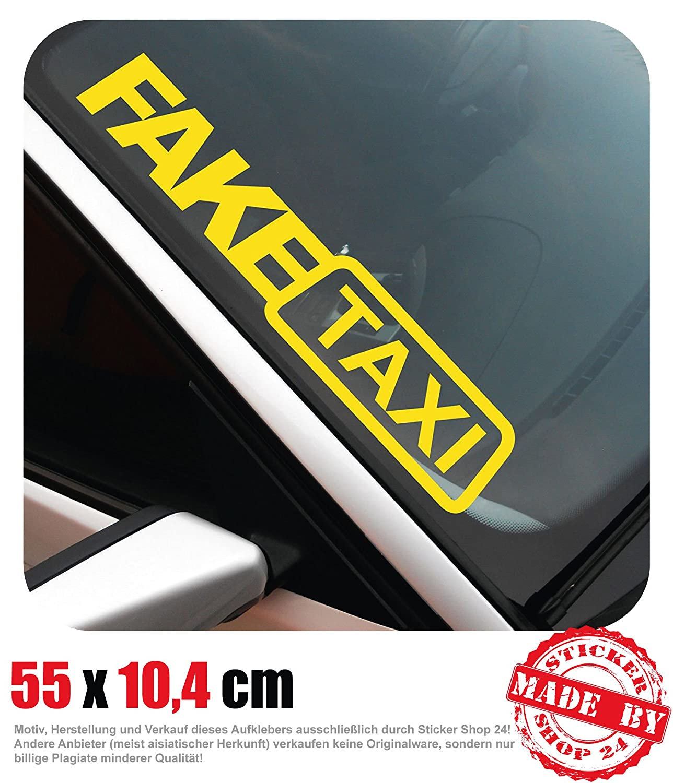 Fake Taxi Frontscheibenaufkleber 550 Cm X 104 Cm Auto Aufkleber Jdm Oem Tuning Sticker Decal 30 Farben Zur Auswahl