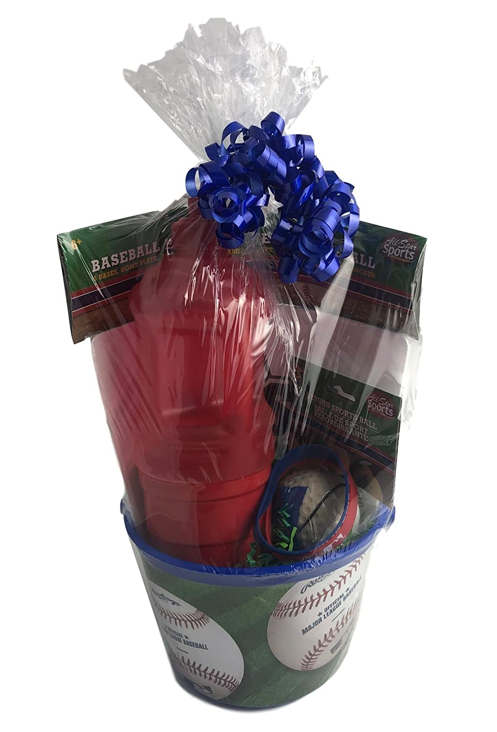Happy Birthday Young Boy Gift Basket for Ages 6-10 Baseball Sports Party Generic