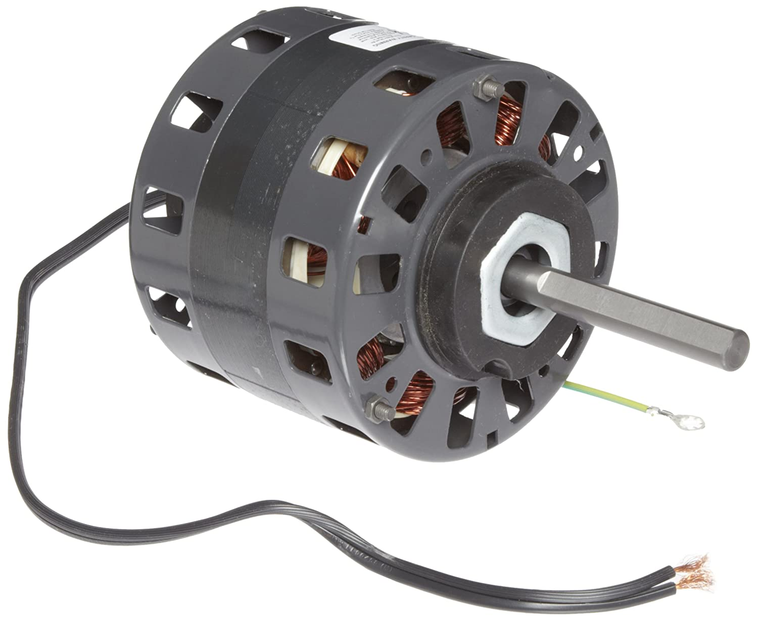 """Fasco D156 5"""" Frame Open Ventilated Shaded Pole Direct Drive Blower Motor with Sleeve Bearing, 1/6HP, 1050rpm, 115V, 60Hz, 6.6 amps"""