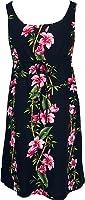 Robert J. Clancey Women's Empire Tie Front Short Tank Rayon Dress