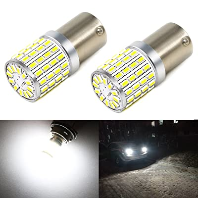Phinlion 2000 Lumens 7506 1156 LED White Bulbs Super Bright 3014 72-SMD BA15S 1156 1073 7506 LED Bulb for Back-Up Reverse/Turn Signal/Brake Stop Tail Lights, 6000K Xenon White: Automotive