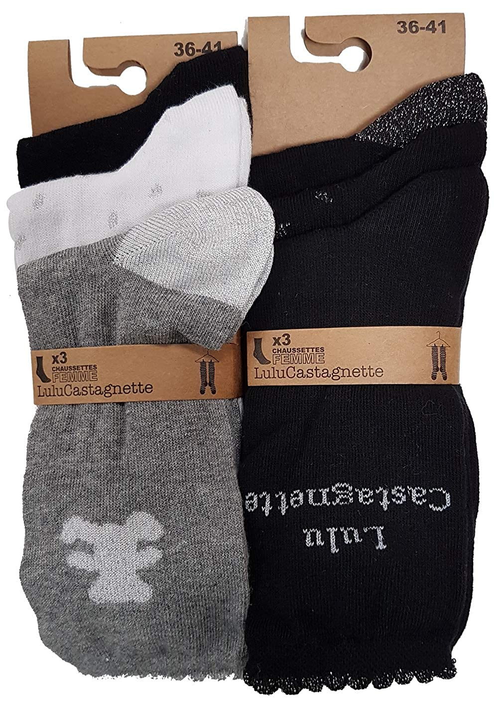 exquisite design top design best prices Lulu Castagnette Chaussettes en coton - Assortiments modèles ...