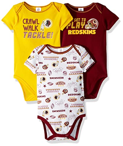 5e80fc45a Gerber Childrenswear NFL Washington Redskins Boys 20183 Pack Short Sleeve  Variety Bodysuit