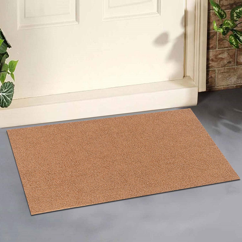 "ROSMARUS Front Door Mat Coir Welcome Mats Fall Doormat Outdoor Front Porch Decor Outside Entrance Shoe Boot Mat Tray for Entryway Garage Floor Matt RV Rug Patio Carpet,24""X34"",Brown"