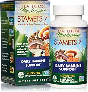 product image for Host Defense, Stamets 7 Capsules, Daily Immune Support, Mushroom Supplement with Lion's Mane, Reishi, Vegan, Organic, 60 Capsules (30 Servings)