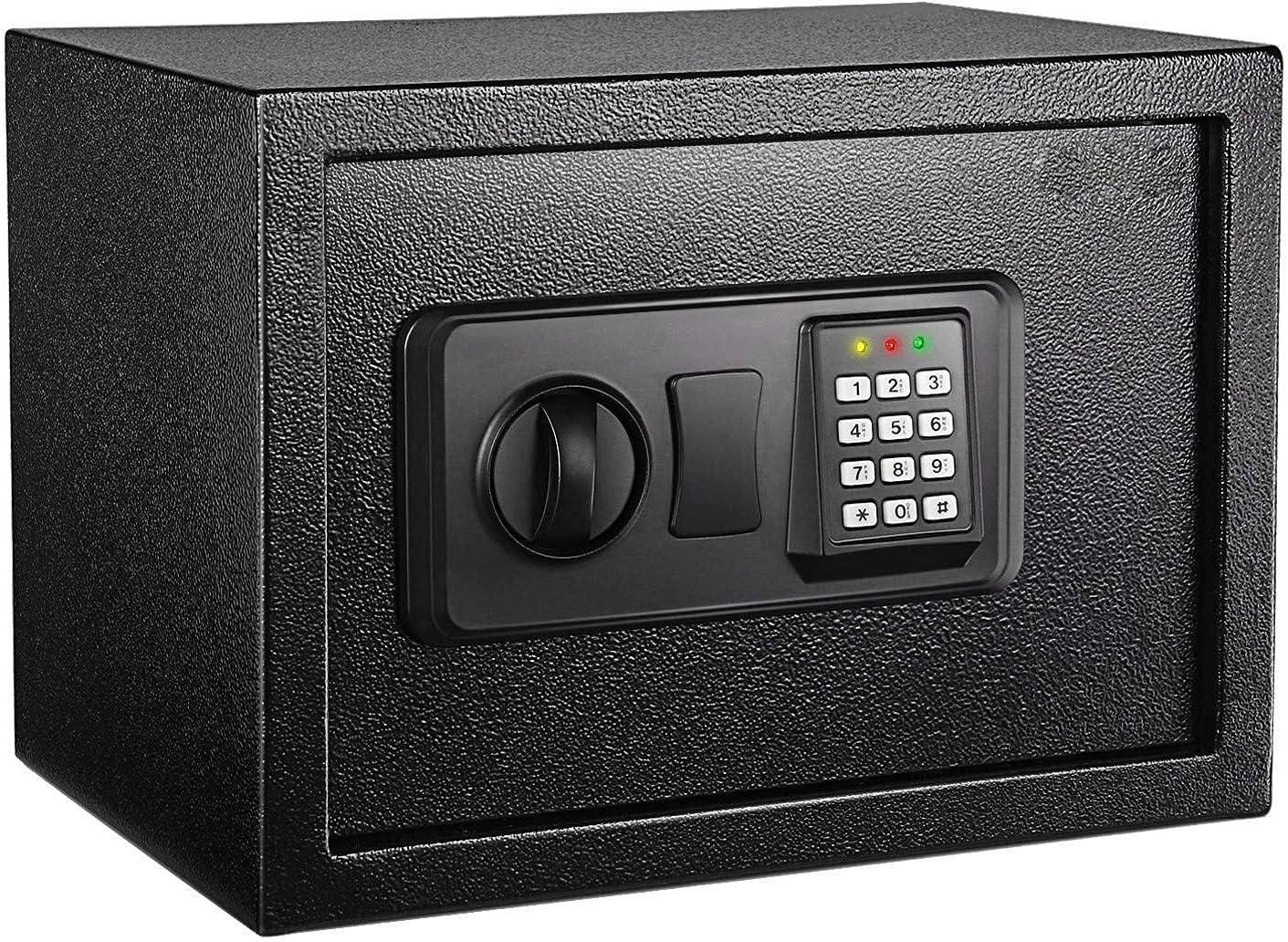 Caja fuerte con cerradura electrónica y llave de emergencia por 43,49€ usando el #código: SLN5USD3