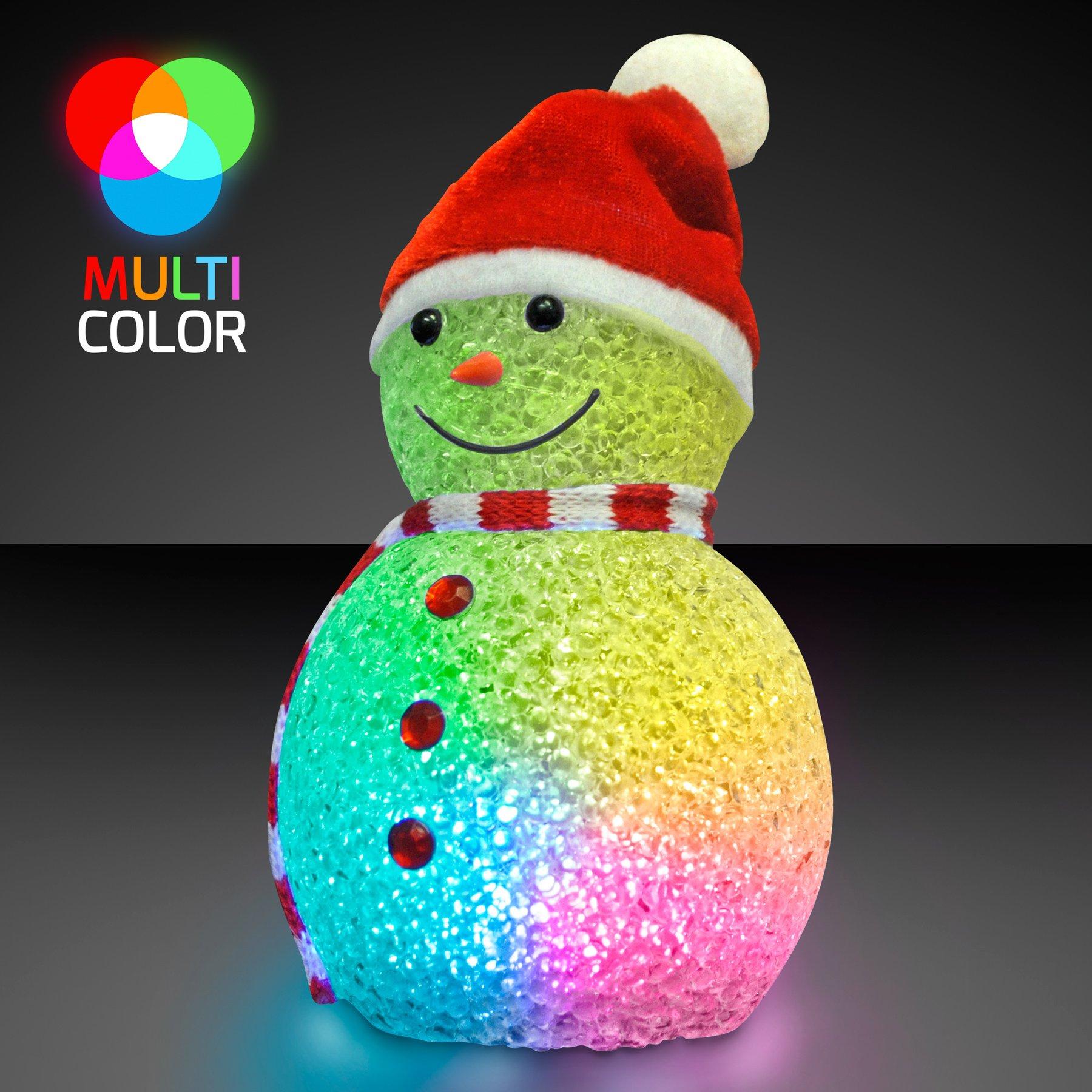 Color Changing LED Snowman Light Up Decoration (Set of 12)