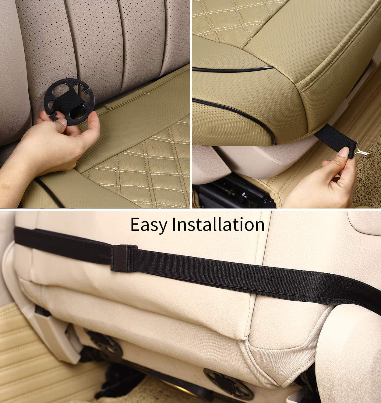 1Piece, Black . Front Seat Protector for Car Compatible with Most Vehicles Upgrade Pu Leather Seat Cover for Cars with Full Wrapping Edge /& Non-Slip Bottom kingphenix Premium Car Seat Cover