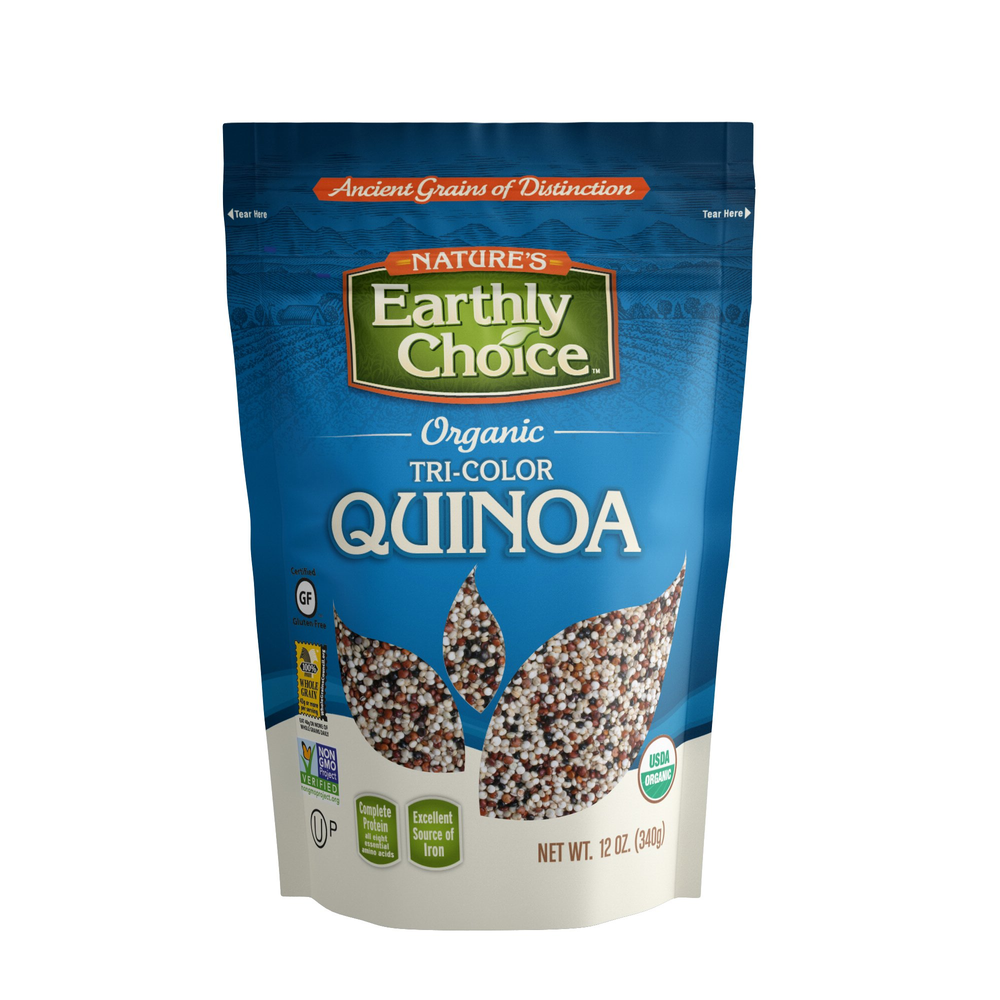 Nature's Earthly Choice Organic Tricolor Quinoa, 12 Ounce