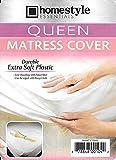 Queen Size Mattress Protector Waterproof and Dust Mite Proof Soft Plastic-Mattress Protector Cover- Style-1. Queen